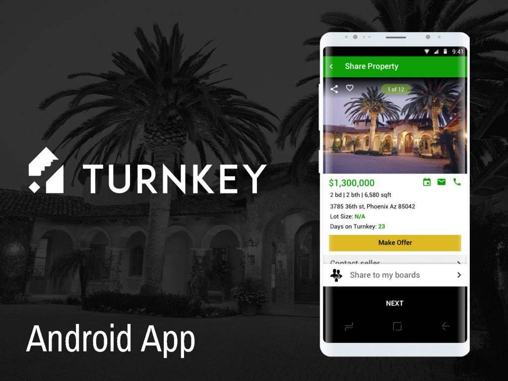 Turnkey Real estate Android App